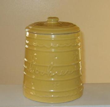 Rare yellow cookie jar pastel Mar-crest Hull