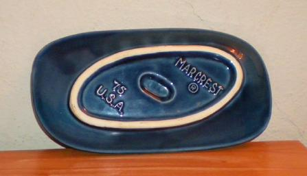 Blue Marcrest ashtray