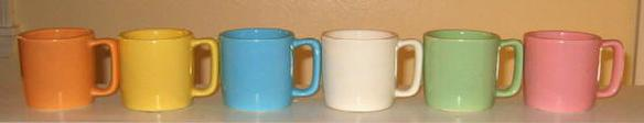 Hull Mar-crest pastel cups