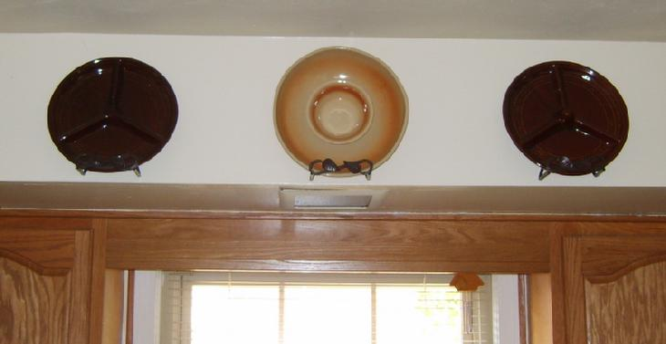 Rare no dome lazy susan, apricot and cream colored chip and dip and lazy susan with domed center.